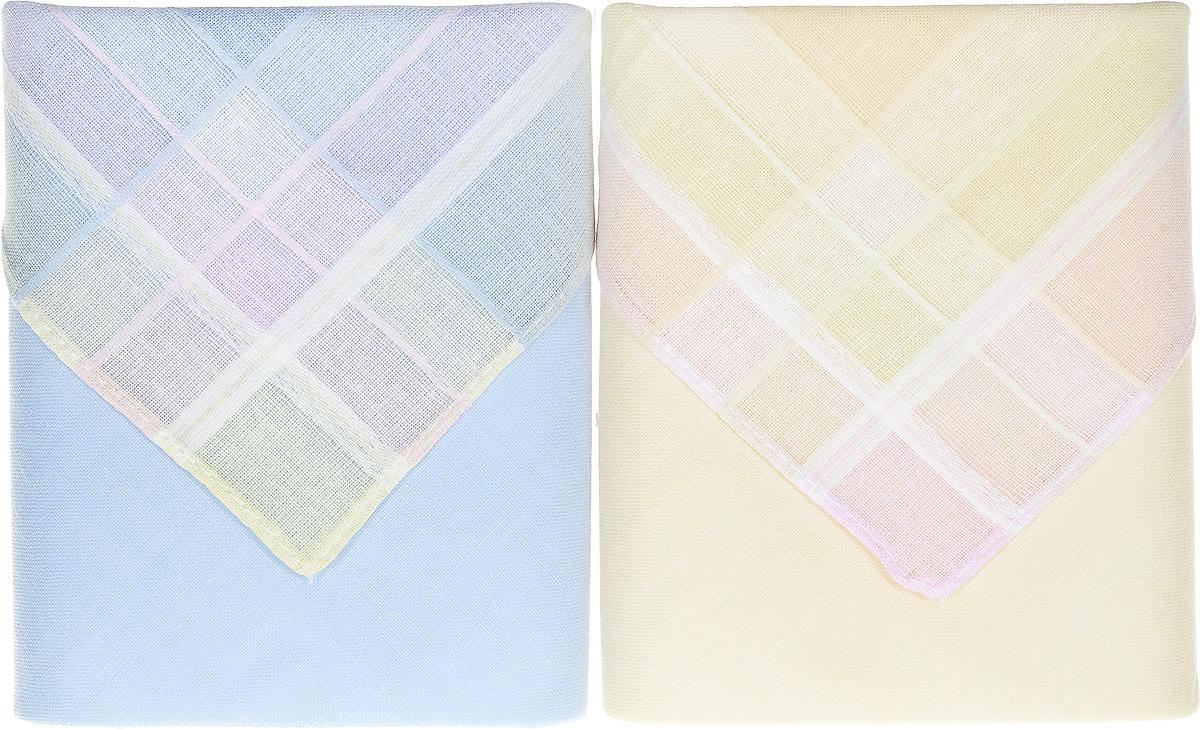 Платок носовой женский Zlata Korunka, цвет: мультиколор, 2 шт. 90220-5. Размер 28 см х 28 см90220-5