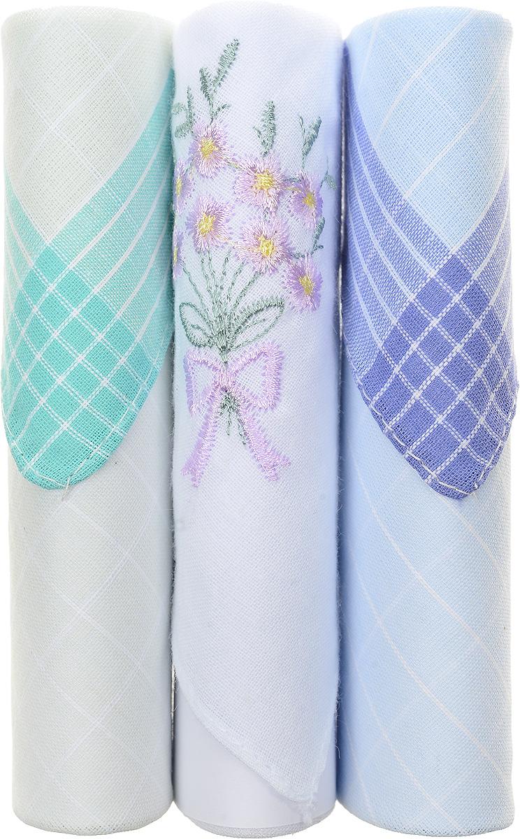 Платок носовой женский Zlata Korunka, цвет: бирюзовый, белый, голубой, 3 шт. 40423-102. Размер 28 см х 28 см40423-102Небольшой женский носовой платок Zlata Korunka изготовлен из высококачественного натурального хлопка, благодаря чему приятен в использовании, хорошо стирается, не садится и отлично впитывает влагу. Практичный и изящный носовой платок будет незаменим в повседневной жизни любого современного человека. Такой платок послужит стильным аксессуаром и подчеркнет ваше превосходное чувство вкуса. В комплекте 3 платка.