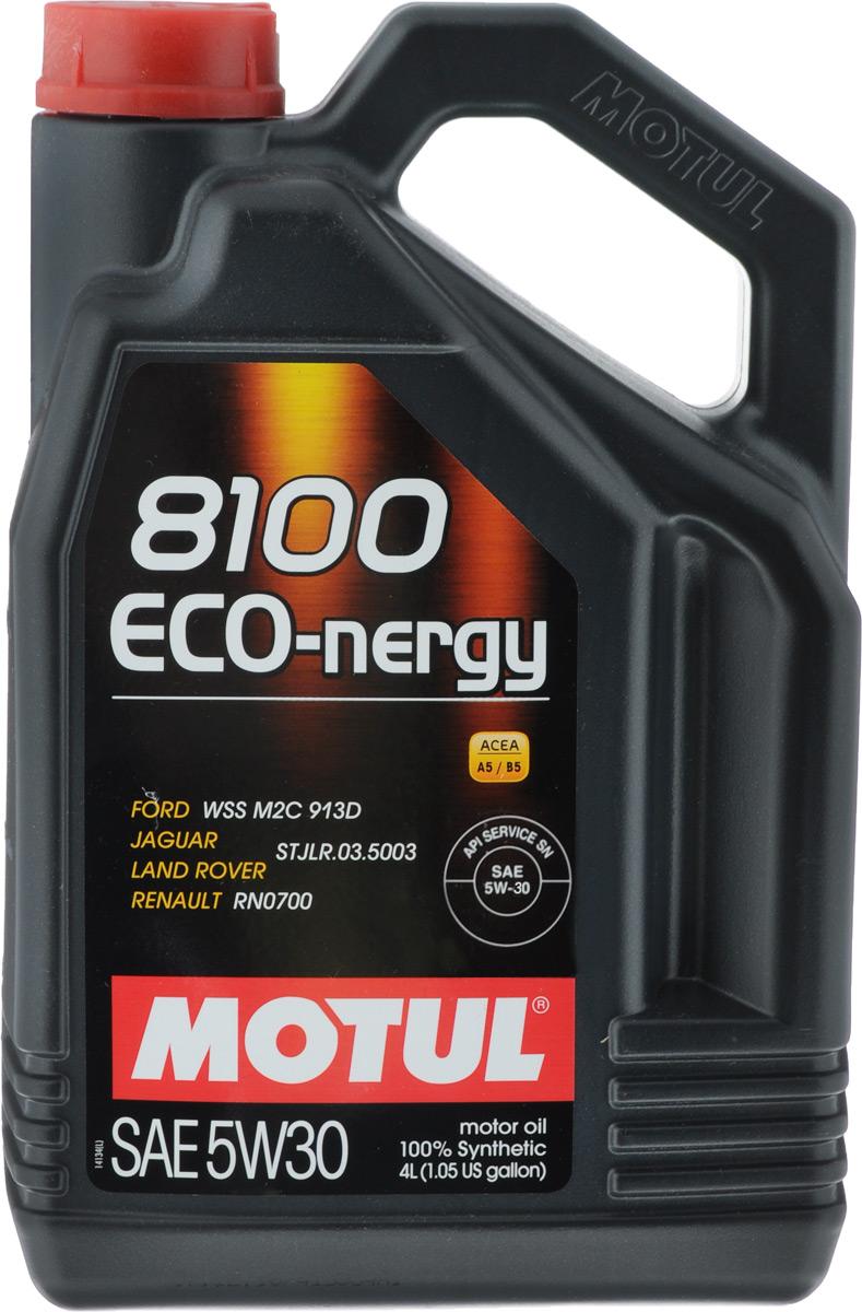 Масло моторное Motul 8100 Eco-Nergy, синтетическое, 5W-30, 4 л104257100% синтетическое моторное масло для бензиновых и дизельных двигателей. Энергосберегающее 100% синтетическое моторное масло разработано специально для мощных современных бензиновых и дизельных двигателей автомобилей, в том числе с непосредственным впрыском, для которых предусмотрено использование масел с низкой высокотемпературной вязкостью в условиях высоких скоростей сдвига (HTHS). Предназначено для бензиновых и дизельных двигателей, созданных по новым технологиям, для которых предписаны масла Fuel Economy (ACEA A1/B1 и А5/В5). Совместимо с системами нейтрализации отработавших газов. ACEA Стандарты: ACEA A5/B5 API Стандарты: API SL/CF Одобрения: FORD WSS M2C 913D; Jaguar Land Rover STJLR.03.5003; Renault RN0700