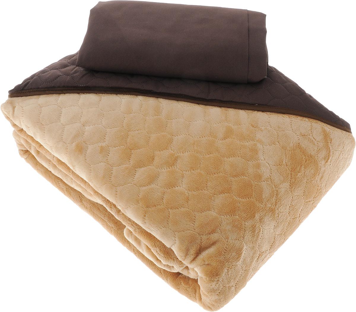 Комплект для спальни Sleep iX Multi Set: покрывало 220 х 240 см, простыня 230 х 240 см, 2 наволочки 50 х 70 см, цвет: коричневый, рыжийpva221574Комплект для спальни Sleep iX Multi Set состоит из покрывала, простыни и 2 наволочек. Верх многофункционального одеяла-покрывала выполнен из мягкой высокотехнологичной ткани, которая хорошо сохраняет тепло, устойчива к стирке и износу, а низ выполнен из нежного искусственного меха. Такой мех не требует специального ухода, он легко чистится и долгое время сохраняет мягкость и внешний вид. Наволочки и простыня выполнены из микрофибры. Комплект для спальни Sleep iX Multi Set - отличный способ придать спальне уют и привнести в интерьер что-то новое. Размер покрывала: 220 см х 240 см. Размер наволочки: 50 см х 70 см. Размер простыни: 230 см х 240 см. Комплект упакован в сумку-чехол на застежке-молнии.