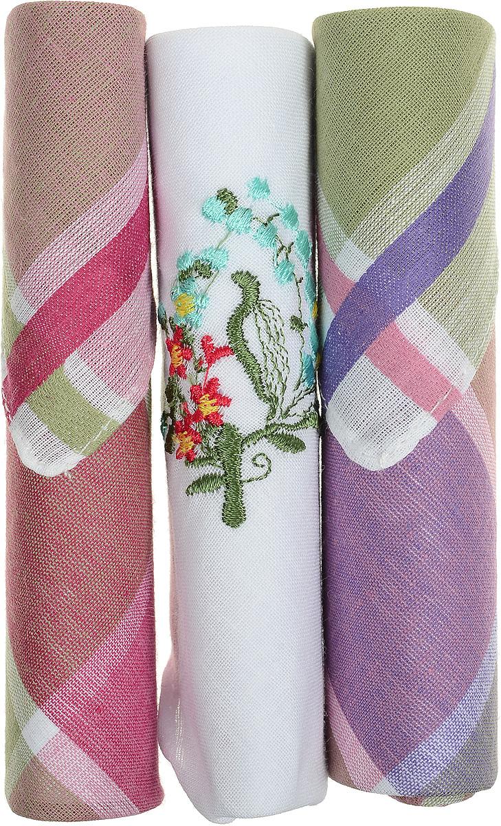 Платок носовой женский Zlata Korunka, цвет: коричневый, белый, зеленый, 3 шт. 40423-124. Размер 28 см х 28 см40423-124Небольшой женский носовой платок Zlata Korunka изготовлен из высококачественного натурального хлопка, благодаря чему приятен в использовании, хорошо стирается, не садится и отлично впитывает влагу. Практичный и изящный носовой платок будет незаменим в повседневной жизни любого современного человека. Такой платок послужит стильным аксессуаром и подчеркнет ваше превосходное чувство вкуса. В комплекте 3 платка.