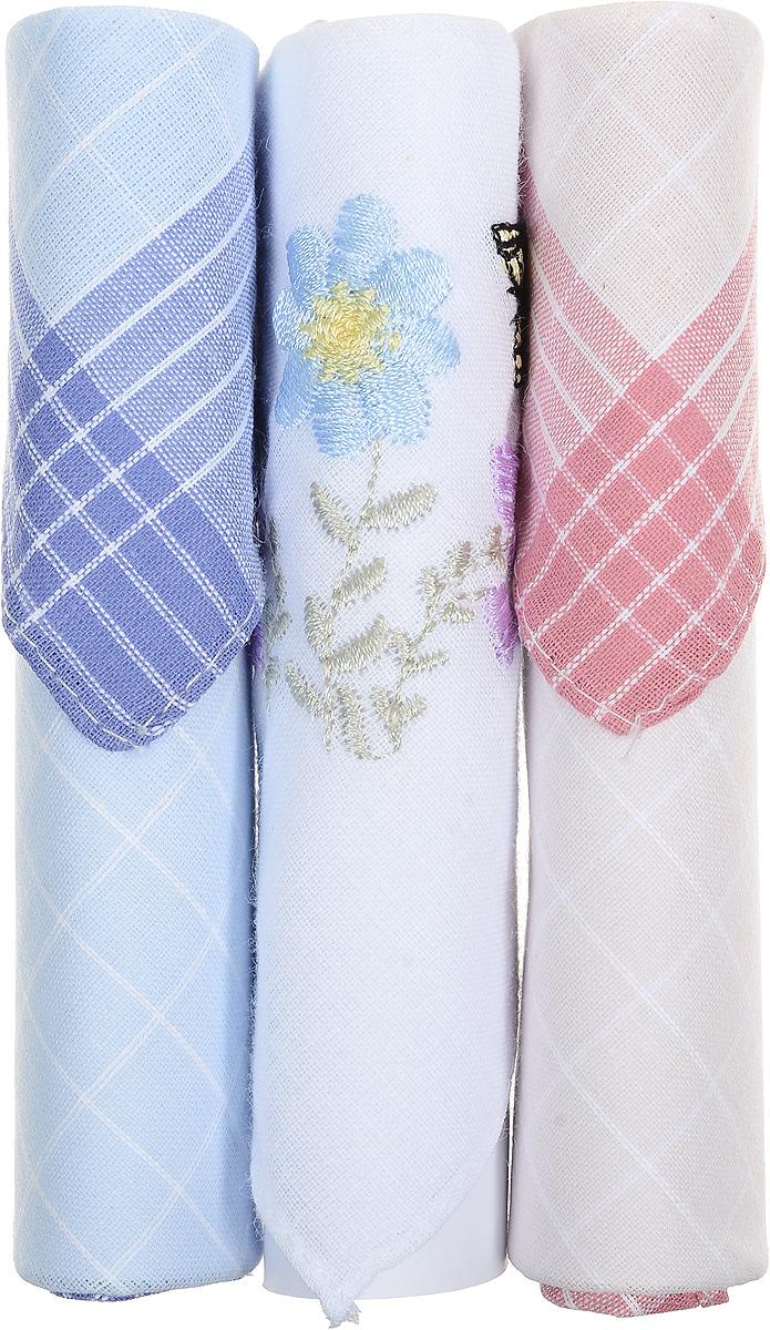 Платок носовой женский Zlata Korunka, цвет: голубой, белый, розовый, 3 шт. 40423-108. Размер 28 см х 28 см40423-108Небольшой женский носовой платок Zlata Korunka изготовлен из высококачественного натурального хлопка, благодаря чему приятен в использовании, хорошо стирается, не садится и отлично впитывает влагу. Практичный и изящный носовой платок будет незаменим в повседневной жизни любого современного человека. Такой платок послужит стильным аксессуаром и подчеркнет ваше превосходное чувство вкуса. В комплекте 3 платка.