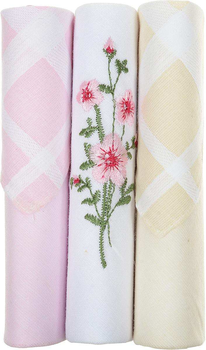 Платок носовой женский Zlata Korunka, цвет: розовый, белый, бежевый, 3 шт. 40423-82. Размер 28 см х 28 см40423-82Небольшой женский носовой платок Zlata Korunka изготовлен из высококачественного натурального хлопка, благодаря чему приятен в использовании, хорошо стирается, не садится и отлично впитывает влагу. Практичный и изящный носовой платок будет незаменим в повседневной жизни любого современного человека. Такой платок послужит стильным аксессуаром и подчеркнет ваше превосходное чувство вкуса. В комплекте 3 платка.