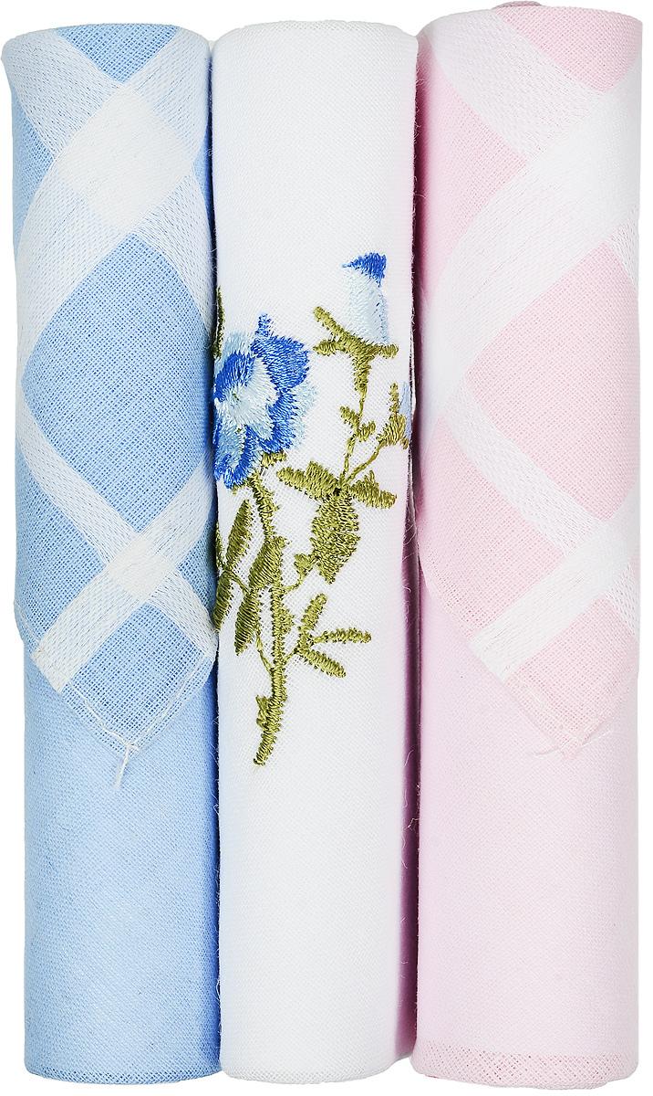 Платок носовой женский Zlata Korunka, цвет: голубой, белый, розовый, 3 шт. 40423-87. Размер 28 см х 28 см40423-87Небольшой женский носовой платок Zlata Korunka изготовлен из высококачественного натурального хлопка, благодаря чему приятен в использовании, хорошо стирается, не садится и отлично впитывает влагу. Практичный и изящный носовой платок будет незаменим в повседневной жизни любого современного человека. Такой платок послужит стильным аксессуаром и подчеркнет ваше превосходное чувство вкуса. В комплекте 3 платка.