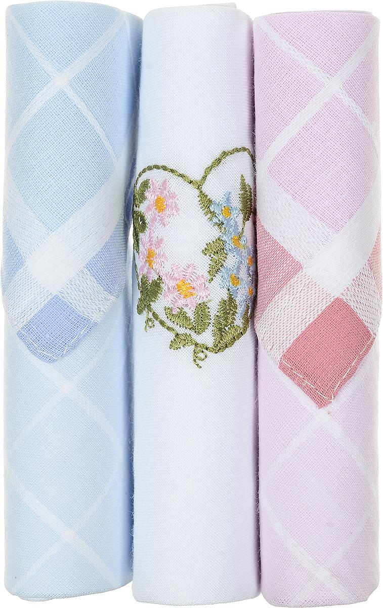 Платок носовой женский Zlata Korunka, цвет: голубой, белый, розовый, 3 шт. 40423-35. Размер 28 см х 28 см40423-35Небольшой женский носовой платок Zlata Korunka изготовлен из высококачественного натурального хлопка, благодаря чему приятен в использовании, хорошо стирается, не садится и отлично впитывает влагу. Практичный и изящный носовой платок будет незаменим в повседневной жизни любого современного человека. Такой платок послужит стильным аксессуаром и подчеркнет ваше превосходное чувство вкуса. В комплекте 3 платка.