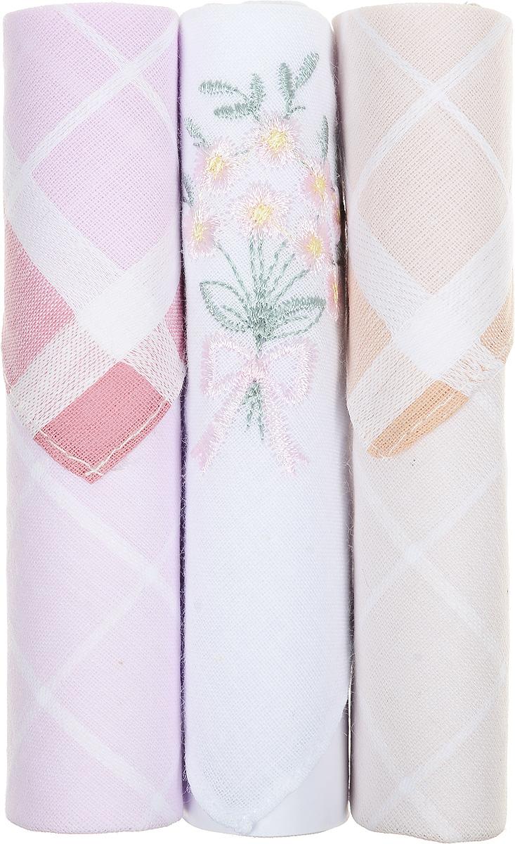 Платок носовой женский Zlata Korunka, цвет: розовый, белый, бежевый, 3 шт. 40423-105. Размер 28 см х 28 см40423-105Небольшой женский носовой платок Zlata Korunka изготовлен из высококачественного натурального хлопка, благодаря чему приятен в использовании, хорошо стирается, не садится и отлично впитывает влагу. Практичный и изящный носовой платок будет незаменим в повседневной жизни любого современного человека. Такой платок послужит стильным аксессуаром и подчеркнет ваше превосходное чувство вкуса. В комплекте 3 платка.