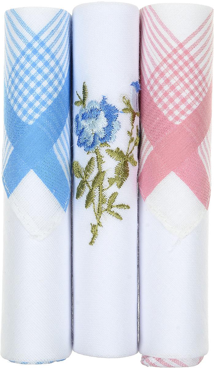 Платок носовой женский Zlata Korunka, цвет: голубой, белый, розовый, 3 шт. 40423-91. Размер 28 см х 28 см40423-91Небольшой женский носовой платок Zlata Korunka изготовлен из высококачественного натурального хлопка, благодаря чему приятен в использовании, хорошо стирается, не садится и отлично впитывает влагу. Практичный и изящный носовой платок будет незаменим в повседневной жизни любого современного человека. Такой платок послужит стильным аксессуаром и подчеркнет ваше превосходное чувство вкуса. В комплекте 3 платка.