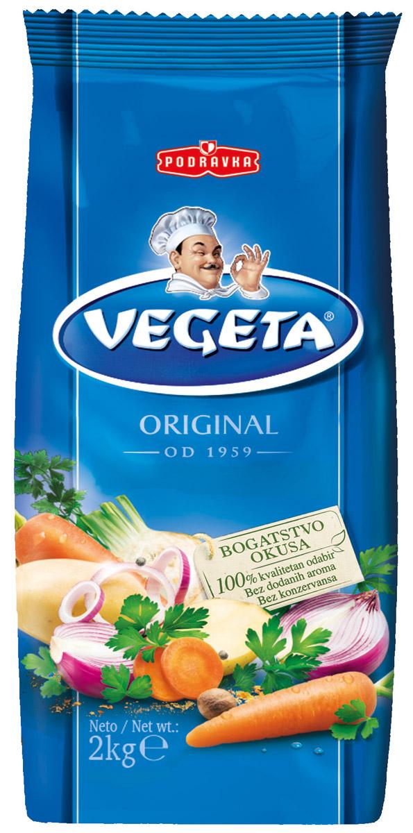 Vegeta универсальная приправа с овощами, 2 кг3110012Надежный спутник ваших кулинарных приключений уже более 50 лет, приправа Vegeta продолжает оставаться одним из самых известных хорватских продуктов, без которого практически невозможно представить себе приготовление пищи. Область применения этой комбинации сушеных овощей и специй не ограничена: это и овощи, и мясо, и гарниры, и все, что угодно на гриле, и минималистские блюда, и блюда из сложных деликатесов - одной чайной ложки приправы Vegeta всегда достаточно, чтобы почувствовать тонкую разницу. Поэтому, готовя еду, дайте свободу своей фантазии и наслаждайтесь - еще много новых комбинаций приправы Vegeta ждет встречи с вами! Уважаемые клиенты! Обращаем ваше внимание, что полный перечень состава продукта представлен на дополнительном изображении.