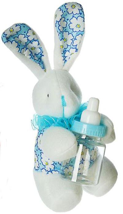 Sima-land Мягкая игрушка Ушастый зайка цвет голубой