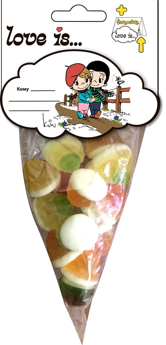 Love is мармелад ВайтМикс, 75 г70324Побалуйте любимых! Мармелад Love is с жидким центом - идеальное лакомство! Разнообразие вкусов обрадует каждого: арбуз, апельсин, яблоко, персик. Каждая мармеладинка - это загадка, какой же вкус будет внутри! А внутри упаковки стикер с любимыми героями. Уважаемые клиенты! Обращаем ваше внимание на то, что упаковка может иметь несколько видов дизайна. Поставка осуществляется в зависимости от наличия на складе.