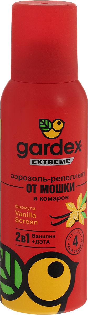 Аэрозоль-репеллент Gardex Extreme от мошки и комаров, 100 мл0151Аэрозоль можно наносить на открытые участки кожи, на одежду и снаряжение только из натуральных тканей. Для равномерного распределения по поверхности наносите аэрозоль с расстояния 10-20 см. Не забывайте наносить средство повторно по истечении указанного на упаковке времени. Характеристики: Состав: N,N-диэтилтолуамид - 15,0%, спирт этиловый, ванилин, бутан, изобутан, пропан. Не содержит озоноразрушающих хладонов! Объем: 100 мл. Товар сертифицирован. Уважаемые клиенты! Обращаем ваше внимание на возможные изменения в дизайне упаковки. Качественные характеристики товара остаются неизменными. Поставка осуществляется в зависимости от наличия на складе.