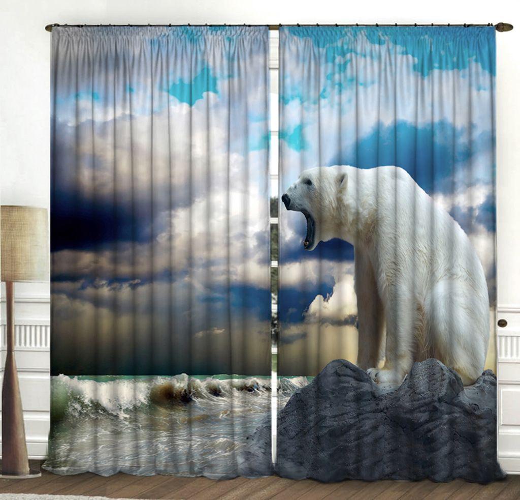 Комплект фотоштор Zlata Korunka Белый медведь, высота 270 см2140821408 Комплект штор Белый медведь, габардин (100% полиэстер) Фотошторы - для производства используется габардиновая ткань высочайшего качества. Фотошторы способны не пропускать самый яркий свет, их можно гладить и стирать. Уход: Бережная стирка при 30 градусах, деликатный отжим, отбеливание запрещено, гладить при t не более 150С. Светопоглощение 70%. Плотность ткани - 150 г/м2. Размер: (ширина 150 х высота 270) х 2 шт +/- 3 см. Оттенок изделия может отличаться от представленного на сайте в силу особенностей цветопередачи фототехники и Вашего монитора.