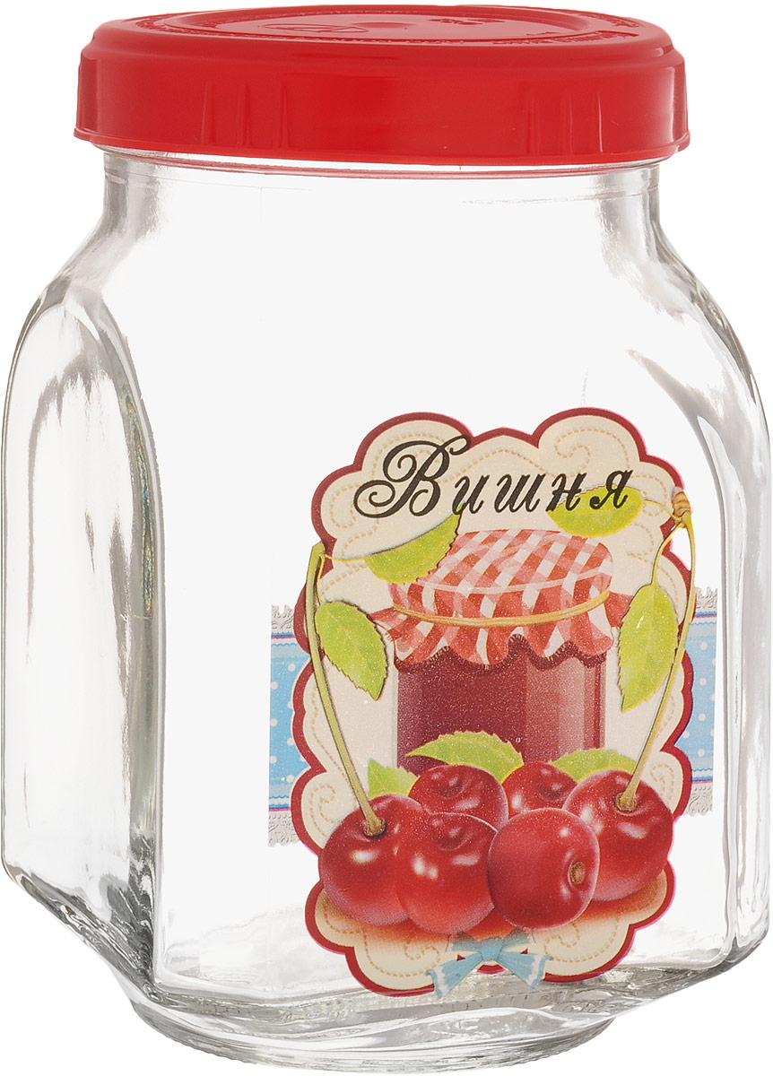 Банка для хранения варенья Квестор Вишня, c крышкой, 800 мл. 626-025626-025Банка из бесцветного стекла для консервированной пищевой продукции. В том числе для сыпучих пищевых продуктов.