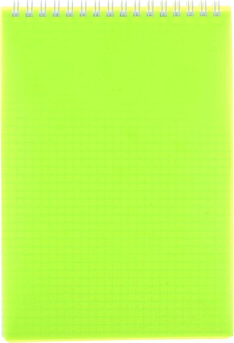 Hatber Блокнот Diamond Neon 80 листов цвет желтый1020811