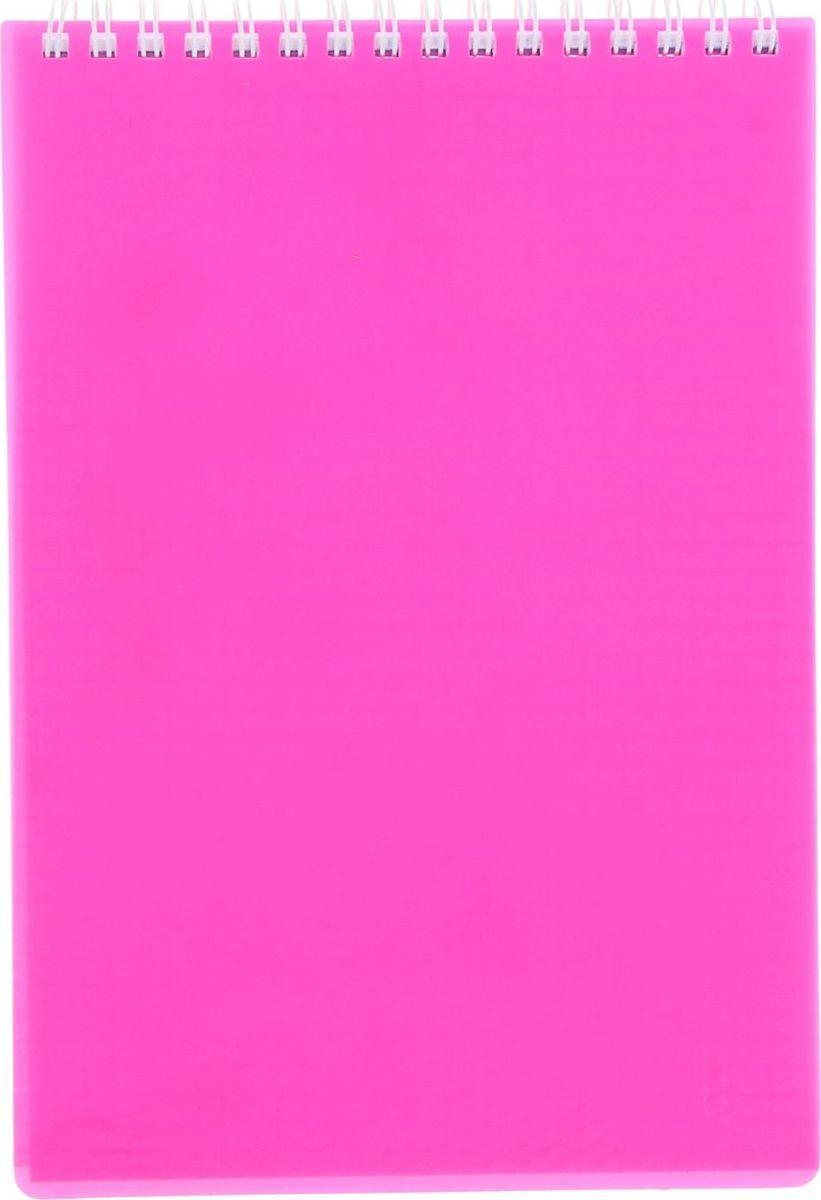 Hatber Блокнот Diamond Neon 80 листов цвет розовый1020812