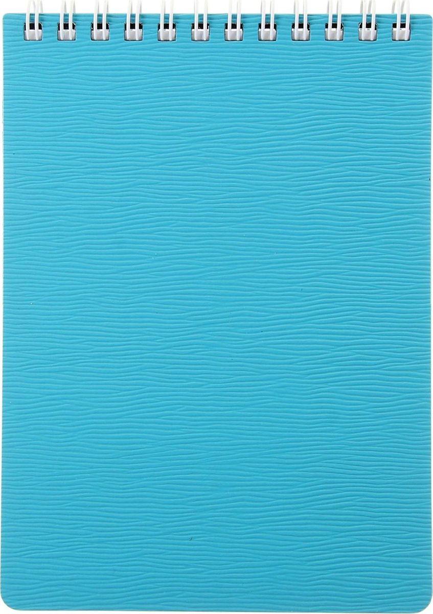 Hatber Блокнот Wood 80 листов цвет бирюзовый1050980