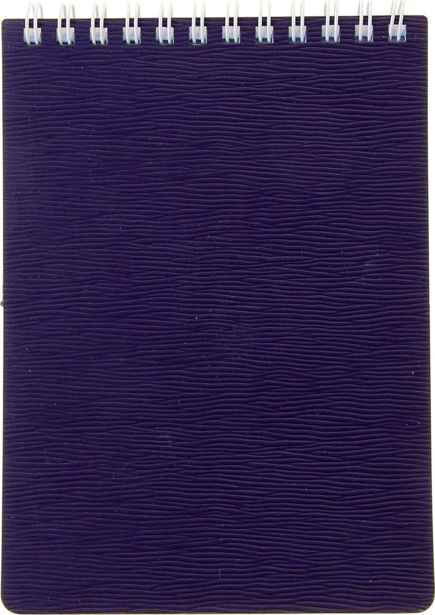 Hatber Блокнот Wood 80 листов цвет фиолетовый1050982