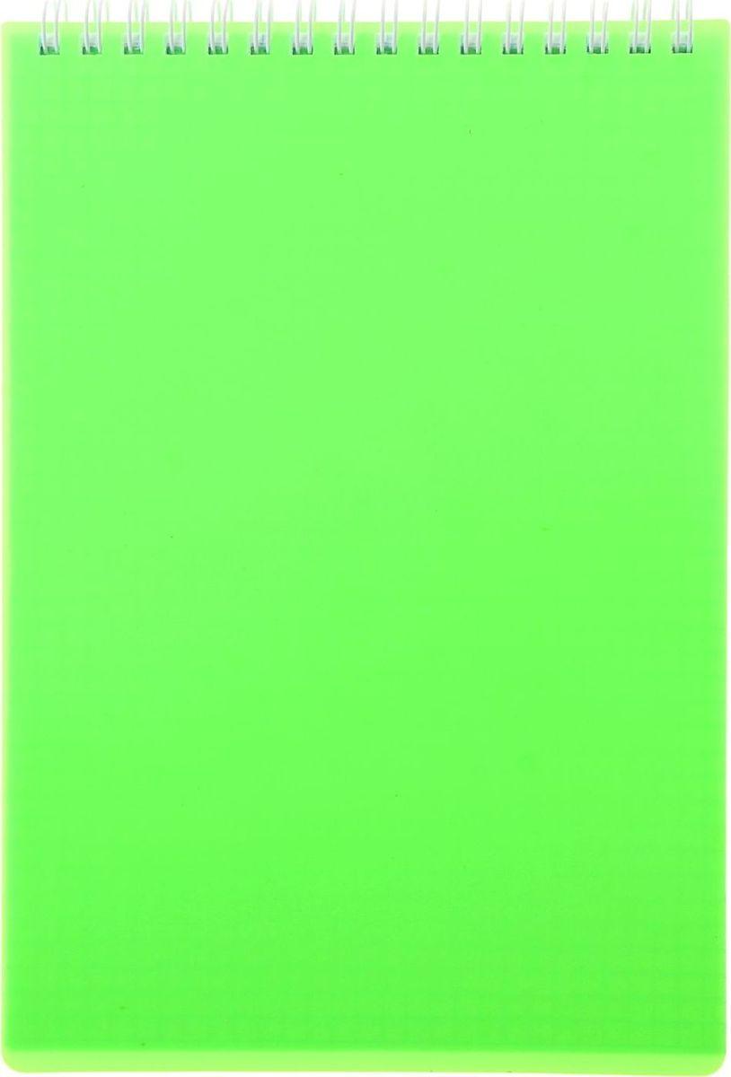 Hatber Блокнот Diamond Neon 80 листов цвет зеленый1051243