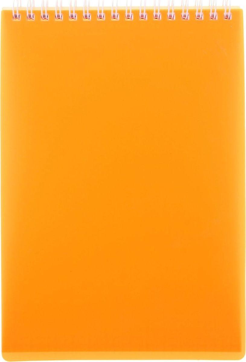 Hatber Блокнот Diamond Neon 80 листов цвет оранжевый 10512441051244