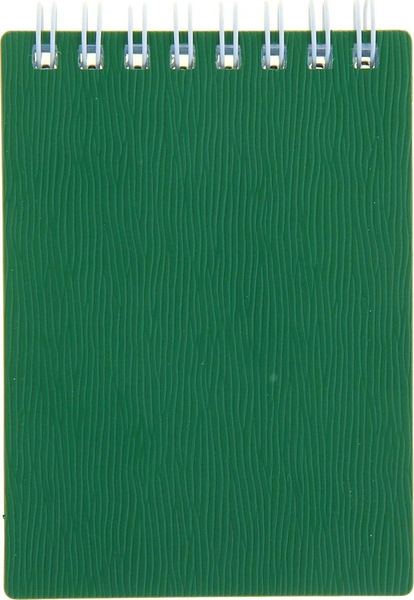 Hatber Блокнот Wood 80 листов цвет зеленый1139155