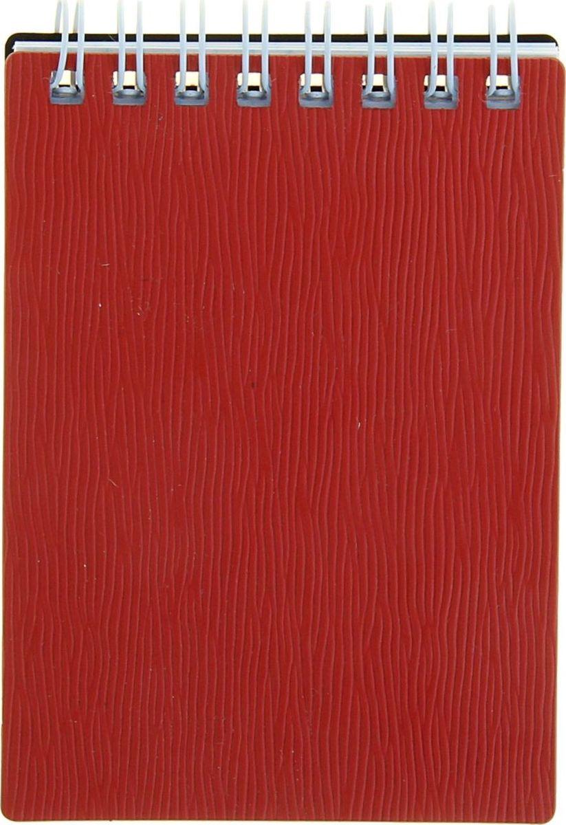 Hatber Блокнот Wood 80 листов цвет красный1139157