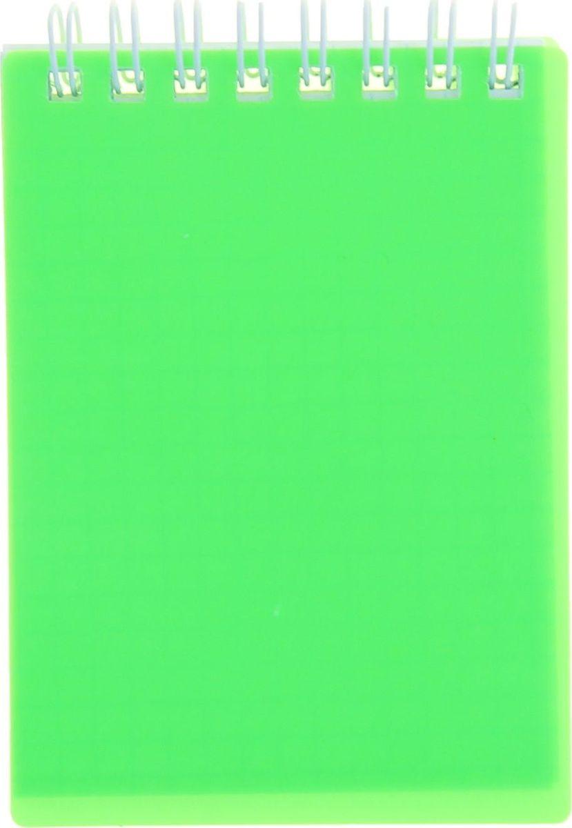 Hatber Блокнот Diamond Neon 80 листов цвет зеленый 1139160