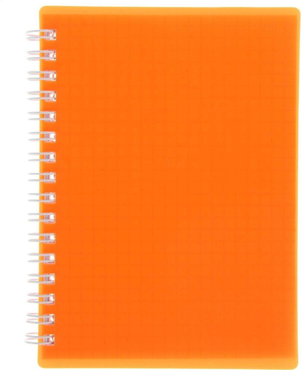Hatber Записная книжка Diamond Neon 80 листов цвет оранжевый1222874Блокнот — компактное и практичное полиграфическое изделие, предназначенное для записей и заметок. Такой аксессуар прекрасно подойдет для фиксации повседневных дел. Это канцелярское изделие отличается красочным оформлением и придется по душе как взрослому, так и ребенку. Записная книжка пластиковая обложка А6, 80 листов на гребне DIAMOND NEON, оранжевая обладает всеми необходимыми характеристиками, чтобы стать вашим полноценным помощником на каждый день.