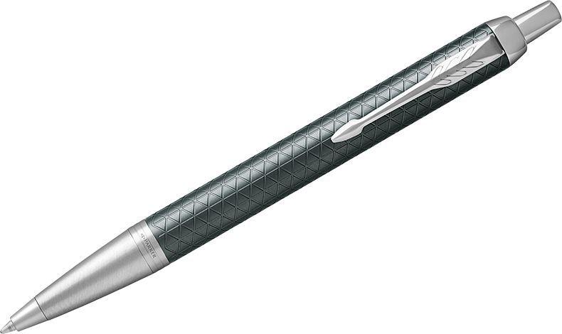 Parker Ручка шариковая IM Premium Green CT синяя1931643Шариковая ручка в корпусе из зеленого матового анодированного алюминия, прошедшего пескоструйную обработку, с фирменным гравированным рисунком. Хромированная отделка деталей с полировкой