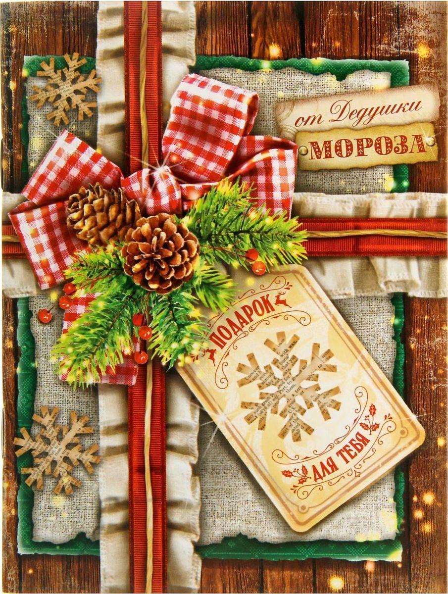 Блокнот-открытка Подарок от Дедушки Мороза 15 листов1348101Счастья в Новом году! Хотите преподнести другу или коллеге памятный, полезный и в то же время недорогой подарок? Блокнот-открытка — то, что нужно! 30 листов со стильным принтом, место для подписи на форзаце и оригинальное оформление обложки делают его прекрасным подарком. Счастливый обладатель будет записывать важную информацию и хранить нужные данные.