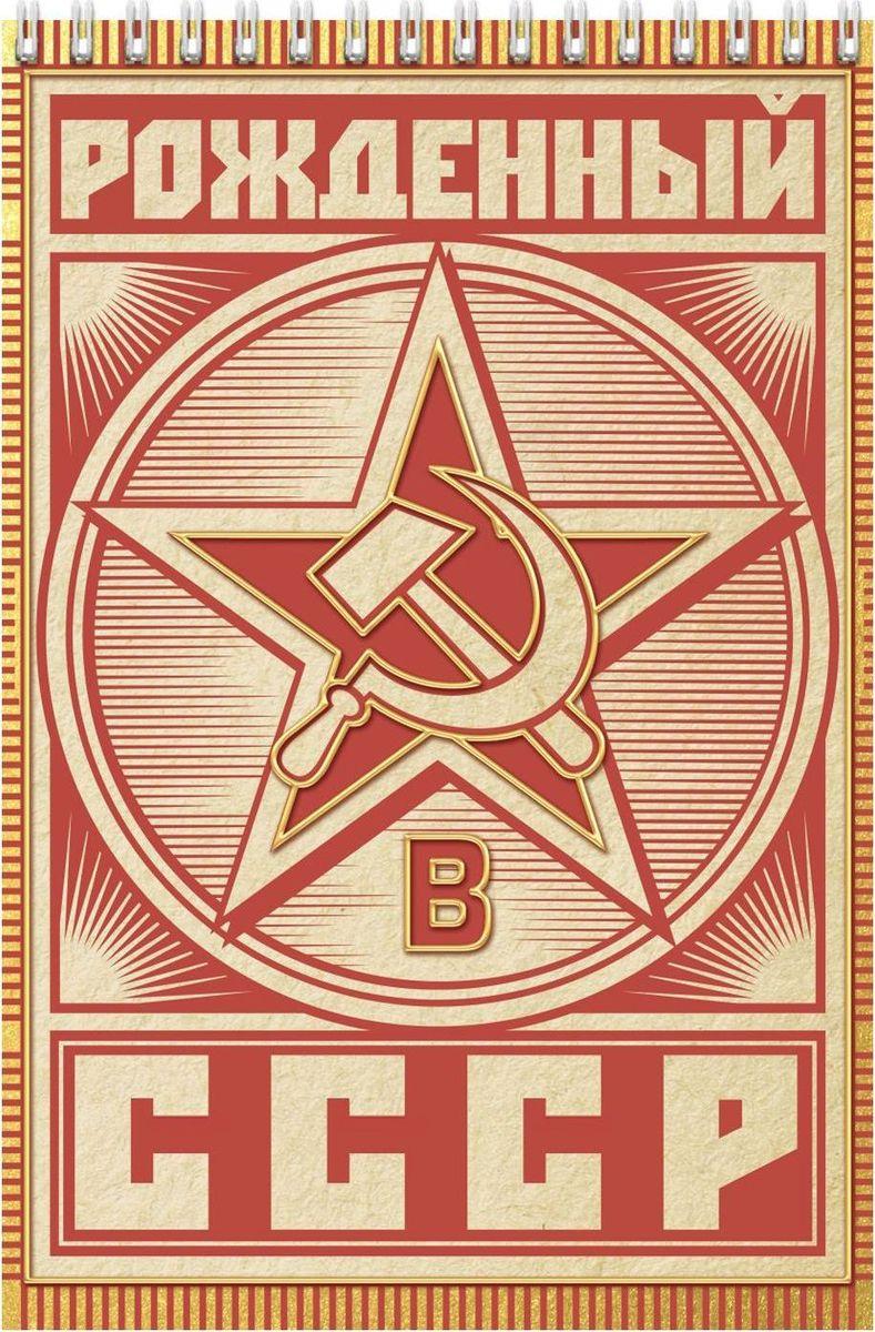 Блокнот Рожденный в СССР 40 листов1705026Блокнот прекрасно подойдет для записи повседневных дел, важных событий и своих мыслей. Преимущества: удобный формат А5 индивидуальный дизайн 40 листов на спирали. Стройте планы, записывайте мудрые мысли, сохраняйте важную информацию. Хороший блокнот — половина успеха!