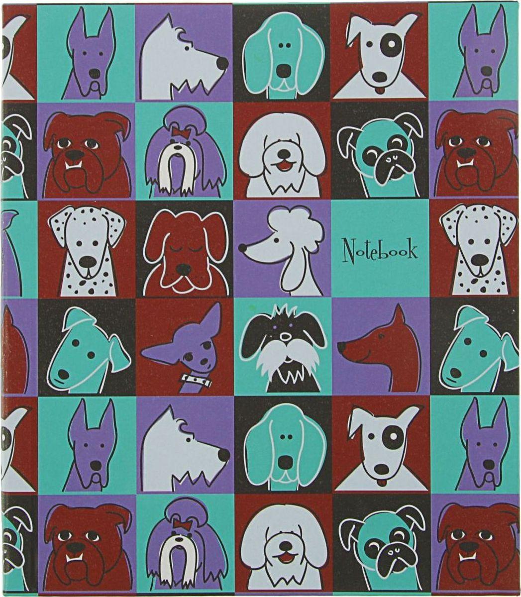 Эксмо Бизнес-блокнот Орнамент Забавные собаки 120 листов2174025