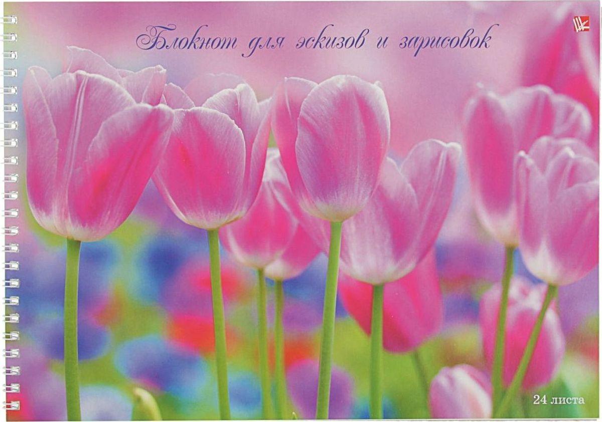 Эксмо Блокнот для эскизов Нежные тюльпаны 24 листов2174029