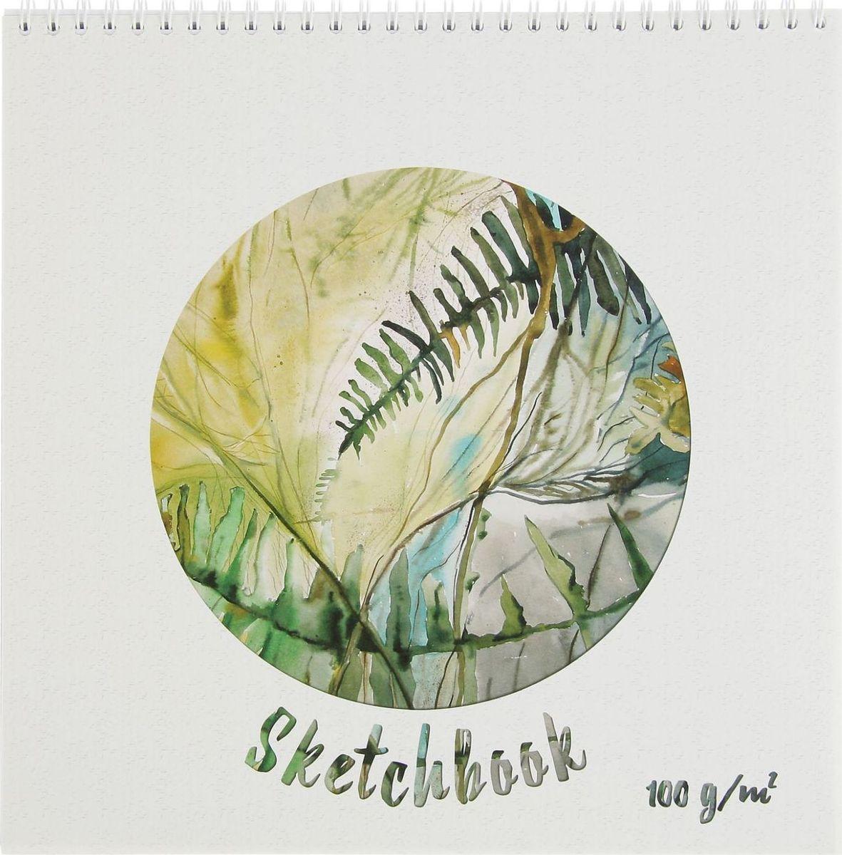 Полином Бумага для эскизов Sketchbook 60 листов цвет белый зеленый2333516