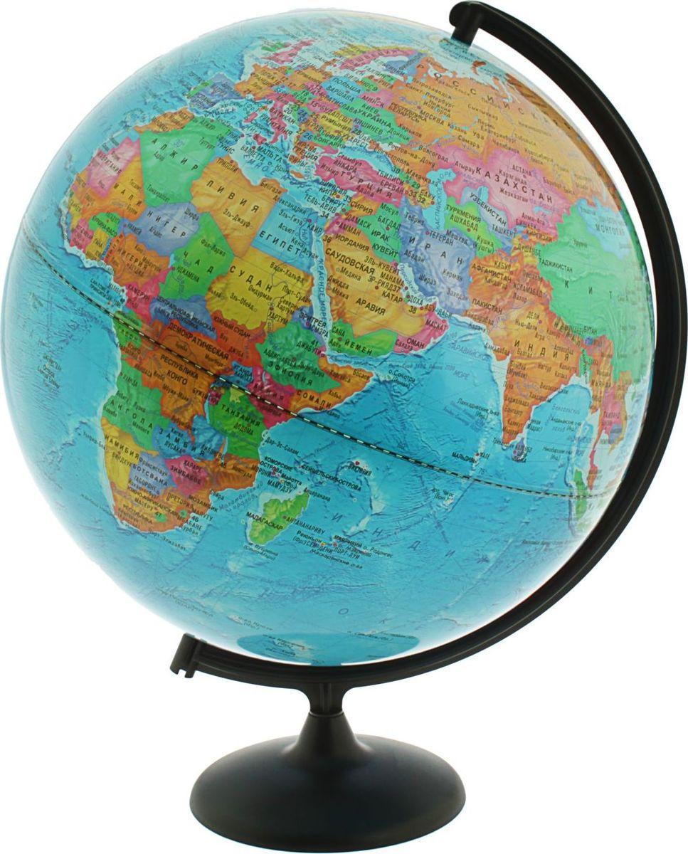 Глобусный мир Глобус политический диаметр 42 см1065223Глобус для всех, глобус каждому! Глобус — самый простой способ привить ребенку любовь к географии. Он является отличным наглядным примером, который способен в игровой доступной и понятной форме объяснить понятия о планете Земля. Также интерес к глобусам проявляют не только детки, но и взрослые. Для многих уменьшенная копия планеты заменяет атлас мира из-за своей доступности и универсальности. Умный подарок! Кому принято дарить глобусы? Всем! Глобус политический диаметр 420 мм — это уменьшенная копия земного шара, в которой каждый найдет для себя что-то свое. путешественники и заядлые туристы смогут отмечать с помощью стикеров те места, в которых побывали или собираются их посетить деловые и успешные люди оценят такой подарок по достоинству, потому что глобус ассоциируется со статусом и властью преподаватели, ученые, студенты или просто неординарные личности также найдут для глобуса достойное место в своем доме. Итак, спешите заказать настольные...