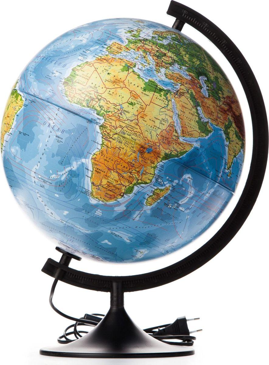Глобен Глобус физико-политический Классик с подсветкой диаметр 32 см1072906Глобус для всех, глобус каждому! Глобус — самый простой способ привить ребенку любовь к географии. Он является отличным наглядным примером, который способен в игровой доступной и понятной форме объяснить понятия о планете Земля. Также интерес к глобусам проявляют не только детки, но и взрослые. Для многих уменьшенная копия планеты заменяет атлас мира из-за своей доступности и универсальности. Умный подарок! Кому принято дарить глобусы? Всем! Глобус физико-политический диаметр 320мм Классик с подсветкой — это уменьшенная копия земного шара, в которой каждый найдет для себя что-то свое. путешественники и заядлые туристы смогут отмечать с помощью стикеров те места, в которых побывали или собираются их посетить деловые и успешные люди оценят такой подарок по достоинству, потому что глобус ассоциируется со статусом и властью преподаватели, ученые, студенты или просто неординарные личности также найдут для глобуса достойное место в своем доме. Итак,...