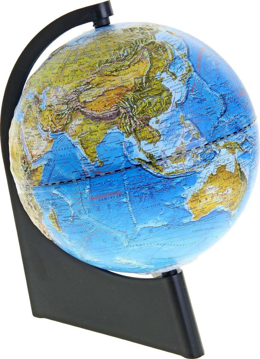 Глобусный мир Глобус ландшафтный рельефный диаметр 21 см1116828Глобус для всех, глобус каждому! Глобус — самый простой способ привить ребенку любовь к географии. Он является отличным наглядным примером, который способен в игровой доступной и понятной форме объяснить понятия о планете Земля. Также интерес к глобусам проявляют не только детки, но и взрослые. Для многих уменьшенная копия планеты заменяет атлас мира из-за своей доступности и универсальности. Умный подарок! Кому принято дарить глобусы? Всем! Глобус ландшафтный рельефный диаметр 210 мм, на треугольной подставке — это уменьшенная копия земного шара, в которой каждый найдет для себя что-то свое. путешественники и заядлые туристы смогут отмечать с помощью стикеров те места, в которых побывали или собираются их посетить деловые и успешные люди оценят такой подарок по достоинству, потому что глобус ассоциируется со статусом и властью преподаватели, ученые, студенты или просто неординарные личности также найдут для глобуса достойное место в своем доме. ...