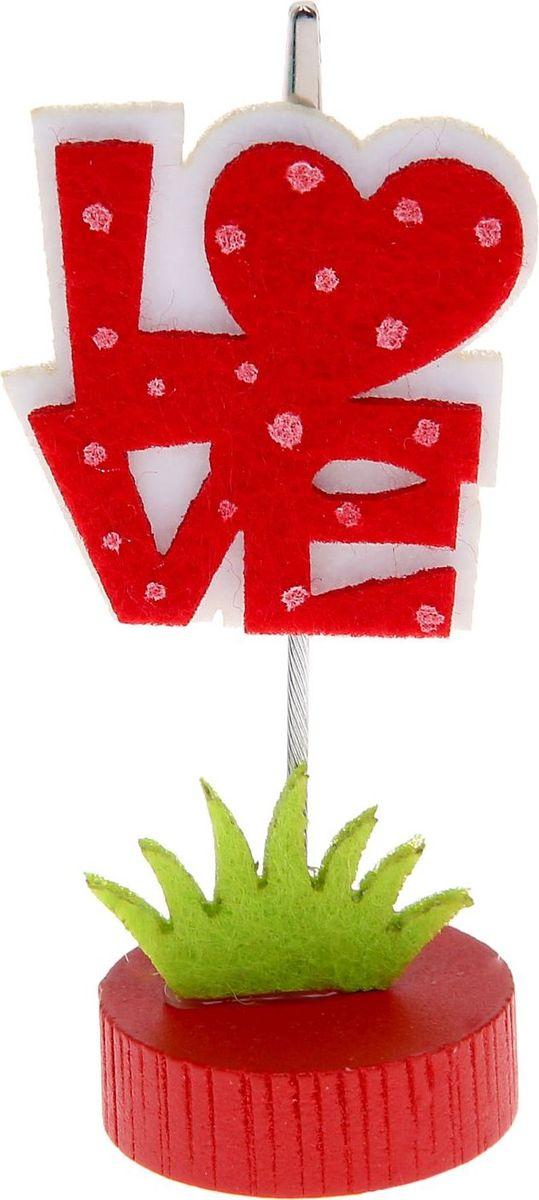 Визитница-прищепка Love1215379Полезный аксессуар, который украсит интерьер и внесет в него частичку уюта, доброты, тепла. С обратной стороны находится прищепка, благодаря которой можно закрепить памятную фотографию или открытку с приятным пожеланием. станет оригинальным презентом или украшением праздничного стола.