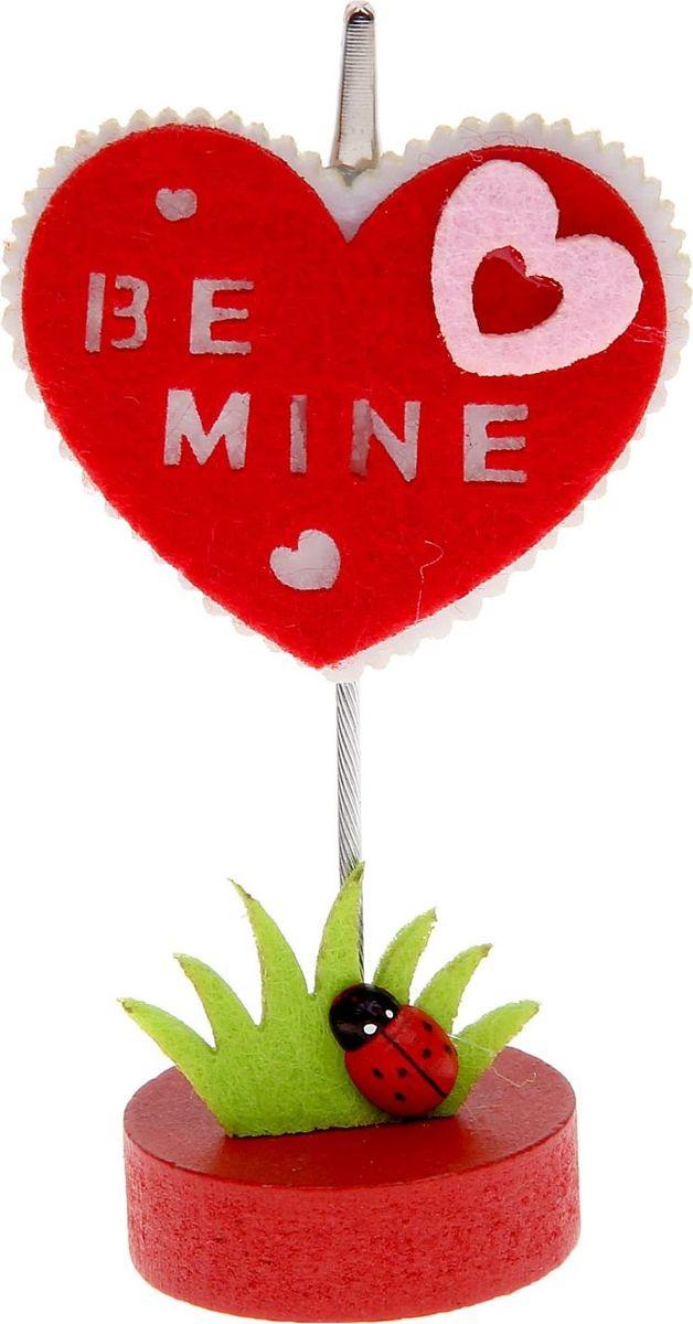 Визитница-прищепка Сердечко в сердце1215381Полезный аксессуар, который украсит интерьер и внесет в него частичку уюта, доброты, тепла. С обратной стороны находится прищепка, благодаря которой можно закрепить памятную фотографию или открытку с приятным пожеланием. станет оригинальным презентом или украшением праздничного стола.