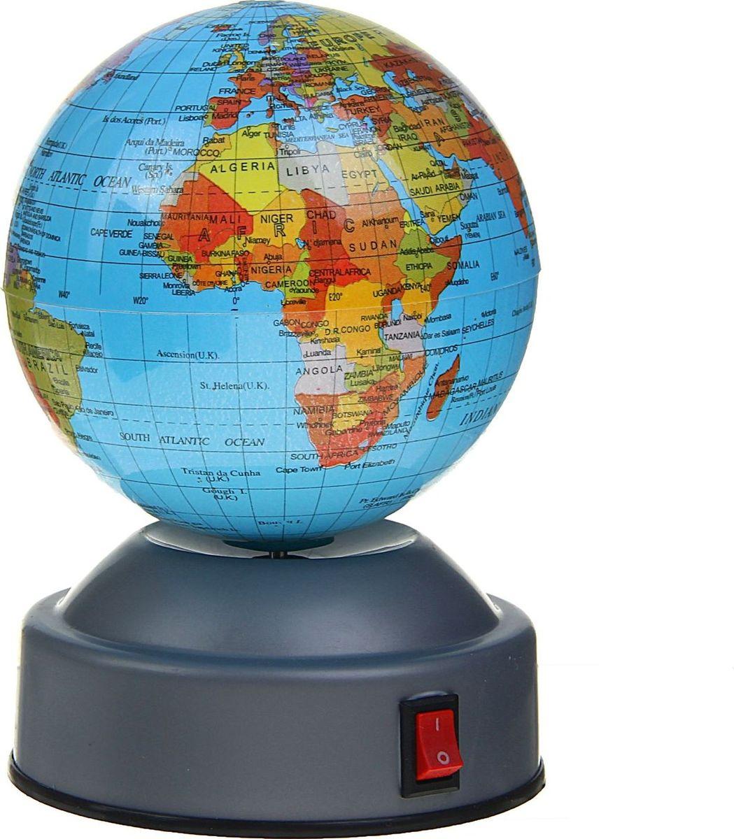 Глобус Политическая карта на английском языке диаметр 8 см1367015Данная модель дает представление о политическом устройстве мира. Макет показывает расположение государств, столиц и крупных населенных пунктов. Названия всех объектов приведены на английском языке. Страны окрашены в разные цвета, чтобы вам было удобнее ориентироваться. На глобусе отображены: экватор параллели меридианы градусы государственные границы. Характеристики Высота глобуса с подставкой: 12 см. Диаметр: 8 см. Изделие изготовлено из прочного пластика.