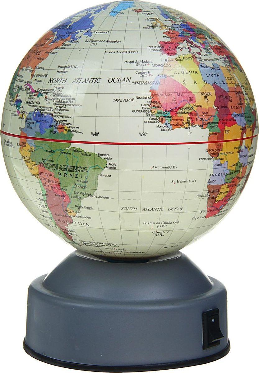 Глобус на английском языке диаметр 10 см 13670161367016Данная модель дает представление о политическом устройстве мира. Макет показывает расположение государств, столиц и крупных населенных пунктов. Названия всех объектов приведены на английском языке. Страны окрашены в разные цвета, чтобы вам было удобнее ориентироваться. На глобусе отображены: экватор параллели меридианы градусы государственные границы. Характеристики Высота глобуса с подставкой: 14 см. Диаметр: 10 см. Изделие изготовлено из прочного пластика.