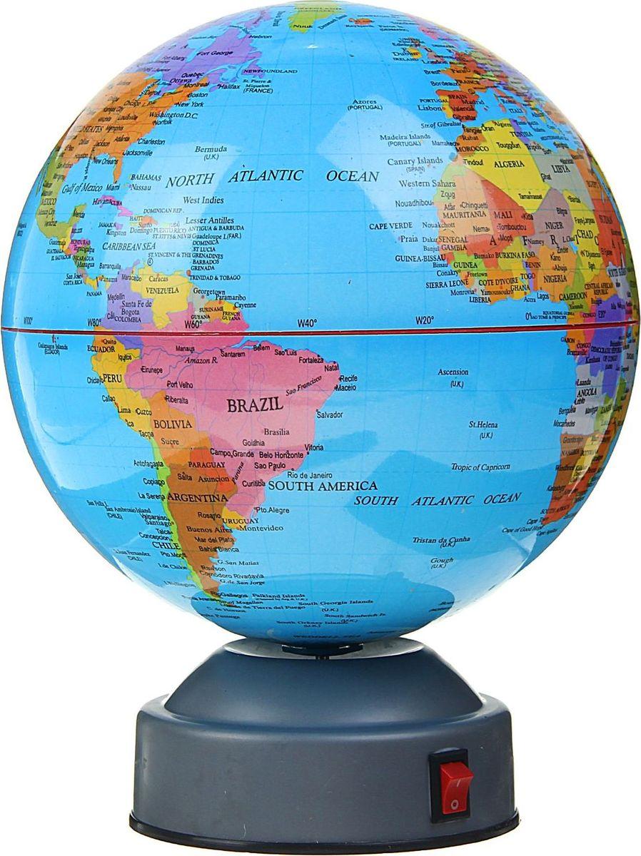 Глобус на английском языке диаметр 14 см1367017Данная модель дает представление о политическом устройстве мира. Макет показывает расположение государств, столиц и крупных населенных пунктов. Названия всех объектов приведены на английском языке. Страны окрашены в разные цвета, чтобы вам было удобнее ориентироваться. На глобусе отображены: экватор параллели меридианы градусы государственные границы. Характеристики Высота глобуса с подставкой: 24 см. Диаметр: 20 см. Изделие изготовлено из прочного пластика.