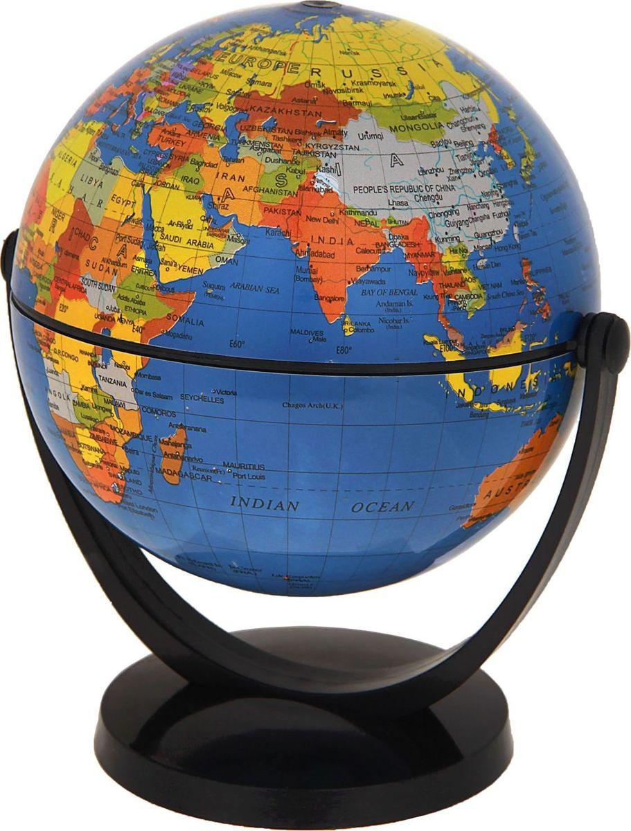 Глобус Политическая карта на английском языке диаметр 10,6 см411303Данная модель дает представление о политическом устройстве мира. Макет показывает расположение государств, столиц и крупных населенных пунктов. Названия всех объектов приведены на английском языке. Страны окрашены в разные цвета, чтобы вам было удобнее ориентироваться. На глобусе отображены: экватор параллели меридианы градусы государственные границы демаркационные линии железнодорожные и морские пути сообщения. Характеристики Высота глобуса с подставкой: 13 см. Диаметр: 10.6 см. Изделие изготовлено из прочного пластика.