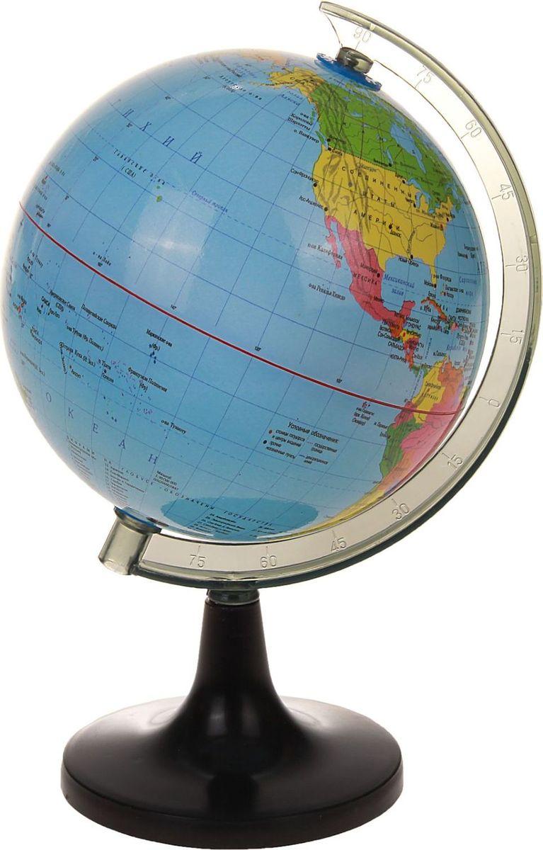 Глобус Политическая карта диаметр 14 см536743Данная модель дает представление о политическом устройстве мира. Макет показывает расположение государств, столиц и крупных населенных пунктов. Названия всех объектов приведены на русском языке. Страны окрашены в разные цвета, чтобы вам было удобнее ориентироваться. Изделие изготовлено из прочного пластика. На глобусе также отображены: экватор параллели меридианы градусы государственные границы демаркационные линии. Характеристики Высота глобуса с подставкой: 22 см. Диаметр: 14 см.