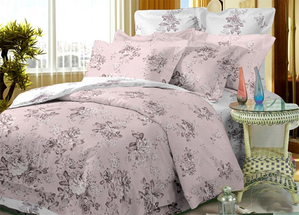 Комплект белья Primavera Пион и роза, 1,5-спальный, наволочки 70x7092027