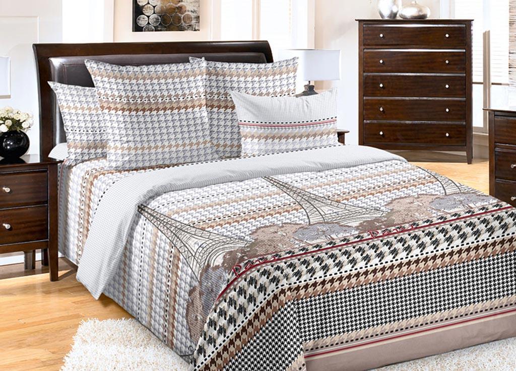 Комплект белья Primavera Эйфелева башня, 1,5-спальный, наволочки 70x7092076