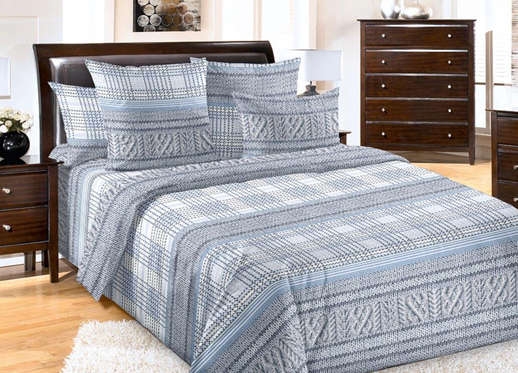 Комплект белья Primavera Вязанье серое, 1,5-спальный, наволочки 70x7092089