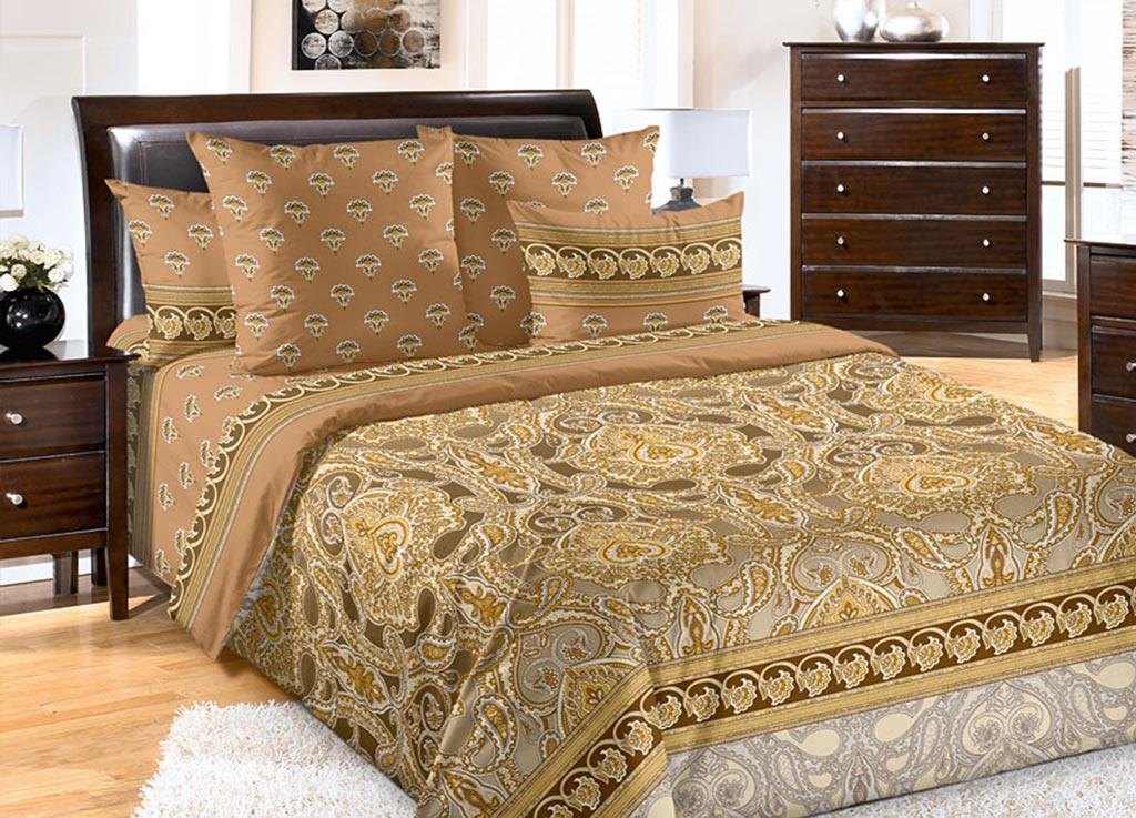Комплект белья Primavera Огурцы коричневые, евро, наволочки 70x7092122