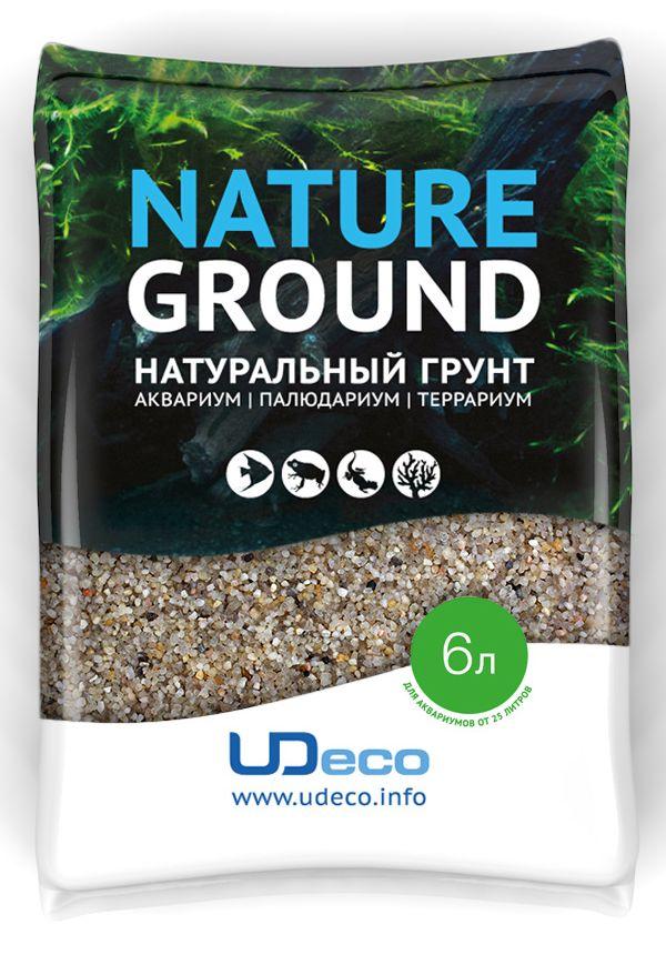 Грунт для аквариума UDeco Светлый песок, натуральный, 0,8-2 мм, 6 лUDC410126Натуральный грунт UDeco Светлый песок предназначен специально для оформления аквариумов, палюдариумов и террариумов. Изделие готово к применению. Грунт UDeco порадует начинающих любителей природы и самых придирчивых дизайнеров, стремящихся к созданию нового, оригинального. Такая декорация придутся по вкусу и обитателям аквариумов и террариумов, которые ещё больше приблизятся к природной среде обитания. Необходимое количество грунта рассчитывается по формуле: длина аквариума х ширина аквариума х толщина слоя грунта. Предназначен для аквариумов от 25 литров. Фракция: 0,8-2 мм. Объем: 6 л.