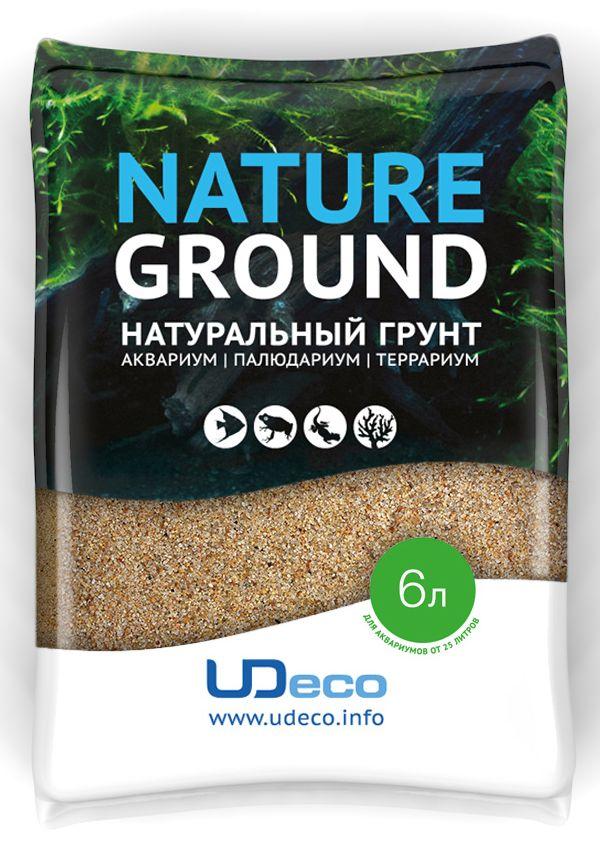 Грунт для аквариума UDeco Янтарный песок, натуральный, 0,4-0,8 мм, 6 лUDC410226Натуральный грунт UDeco Янтарный песок предназначен специально для оформления аквариумов, палюдариумов и террариумов. Изделие готово к применению. Грунт UDeco порадует начинающих любителей природы и самых придирчивых дизайнеров, стремящихся к созданию нового, оригинального. Такая декорация придутся по вкусу и обитателям аквариумов и террариумов, которые ещё больше приблизятся к природной среде обитания. Необходимое количество грунта рассчитывается по формуле: длина аквариума х ширина аквариума х толщина слоя грунта. Предназначен для аквариумов от 25 литров. Фракция: 0,4-0,8 мм. Объем: 6 л.