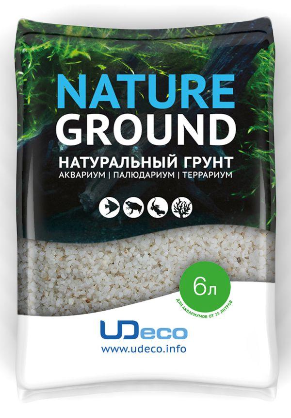 """Грунт для аквариума UDeco """"Мраморный гравий"""", натуральный, 2-3 мм, 6 л UDC410736"""
